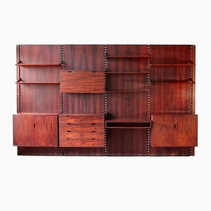 Italian Rosewood Wall Unit by Raffaella Crespi for Mobilia, 1960s