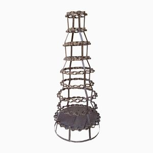Vintage Iron Bottle Rack