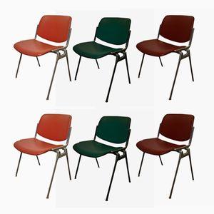 Italienische Vintage Stühle von Giancarlo Piretti für Castelli, 6er Set