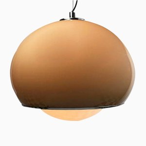 Space Age Brown Ceiling Light by Harvey Guzzini, 1970s