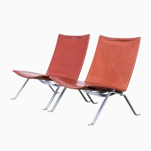 PK22 Chairs by Poul Kjaerholm for Fritz Hansen, 1984, Set of 2