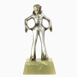 Österreichische Art Deco Bronze Figur von Josef Lorenzl