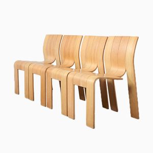 Stackable Strip Chairs by Gijs Bakker for Castelijn, 1974, Set of 4