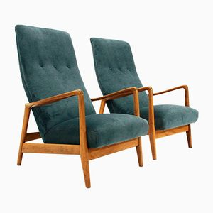 829 High Back Armchairs by Gio Ponti for Cassina, 1958, Set of 2