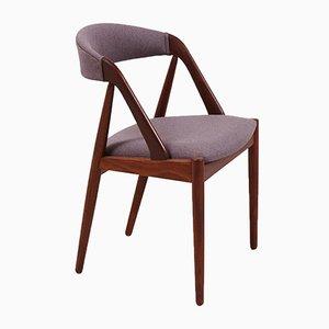 Mid-Century Modell 31 Teak Stuhl von Kai Kristiansen für Schou Andersen