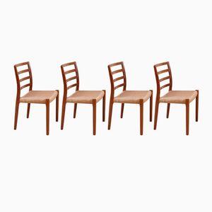 Vintage Modell 85 Teak Stühle von Niels O. Møller für J.L. Møllers, 4er Set