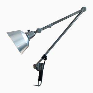 Große Vintage Tischlampe mit Aluminium- Schirm von Curt Fischer für Midgard