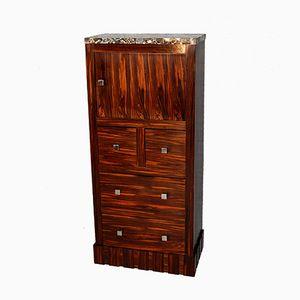 Art Deco Macassar and Breccia Marble Cabinet