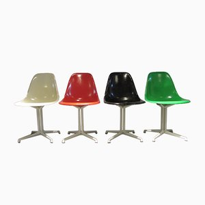 Multi-Colored Fiberglas Side Chairs by Charles & Ray Eames for Herman Miller, 1960s, Set of 4