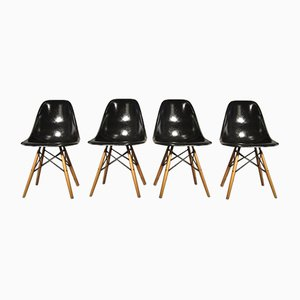 Fiberglass Side Chairs by Ray & Charles Eames for Vitra, 1973, Set of 4