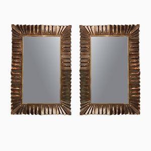 Mid-Century Italian Murano Glass Mirrors, Set of 2