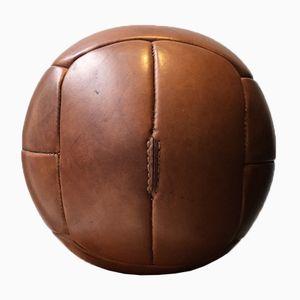 Czech Leather Medicine Ball, 1940s