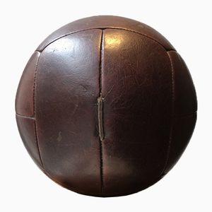 Vintage Leather 5kg Medicine Ball, 1940s