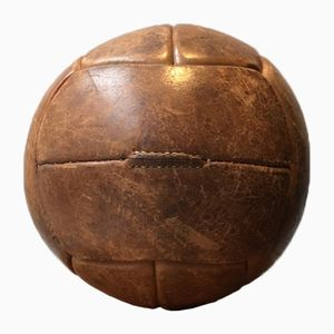 Vintage Leather 2kg Medicine Ball, 1940s