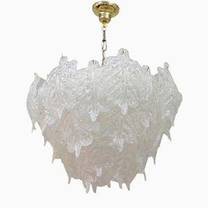 Große Murano Glas Lampe von Mazzega, 1960er