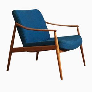 Mid-Century Cherry Easy Chair by Hartmut Lohmeyer for Wilkhahn