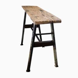 Vintage Industrial French Work Table