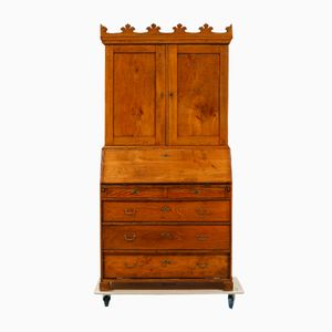 Antique Danish Secretaire with a Crown Shaped Top