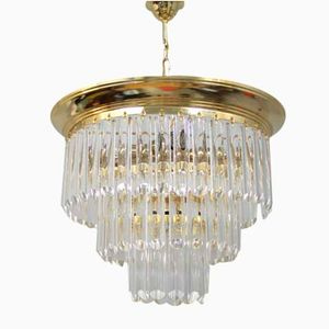 Vintage Chandelier with Bohemian Glass, 1970s