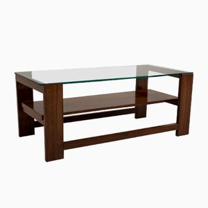 Dutch Rosewood & Glass Coffee Table, 1960s