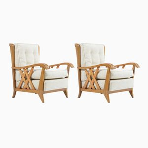 Solid Cherry Armchairs by Paolo Buffa, 1940s, Set of 2
