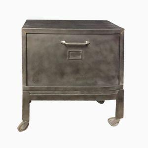 Vintage Industrial Cabinet with Flap Door