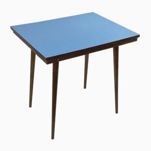 Mid-Century Czech Beech & Blue Formica Coffee Table from Tatra Nabytok