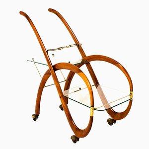 Chariot de Bar par Gaetano Pizzi, Italie, 1950s