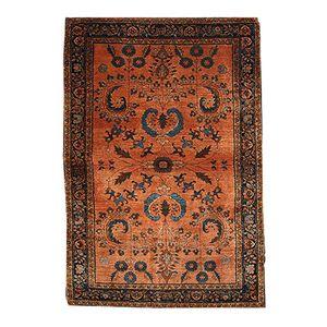 Antiker Persischer Handgeknüpfter Sarouk Mahadjeran Teppich, 1910er