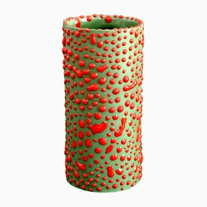 Vase Camouflage Vert par Ahryun Lee