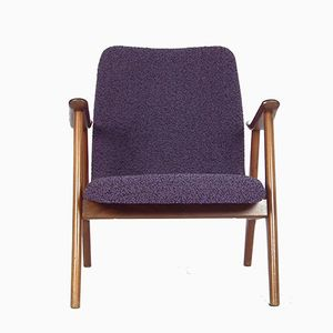 Vintage Purple Armchair by Louis van Teeffelen for WéBé