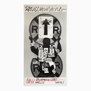 Exhibition Poster by Robert Rauschenberg for Lucio Amelio, 1987