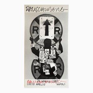 Poster di una mostra di Lucio Amelio di Robert Rauschenberg, 1987