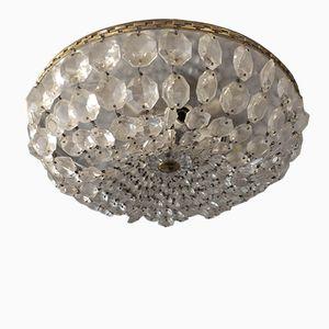 Kristallglas Deckenlampe, 1950er