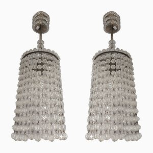 Vintage Ceiling Lights with Acrylic Beads, Set of 2