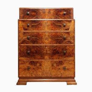 Art Deco Chest of Drawers in Walnut, 1930s