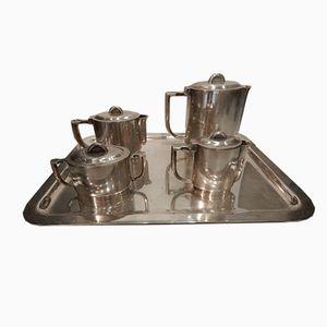 Vintage Metall Tee Service von Gio Ponti für Krupp Berndorf