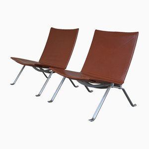 PK22 Easy Chairs by Poul Kjaerholm for Fritz Hansen, 1989