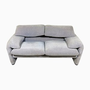 Vintage Maralunga 2-Sitzer Sofa von Vico Magistretti für Cassina