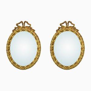 Miroirs Antiques Dorés en Forme de Rubans, Set de 2