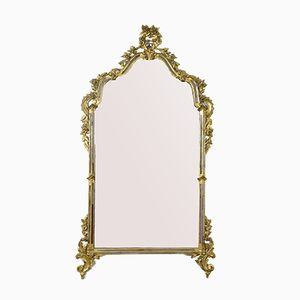 Antique Italian Gilded Mirror with Hand Carving