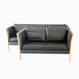 Danish Design Leather Living Room Set