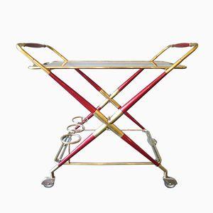 Italian Mid-Century Bar Cart by Cesare Lacca
