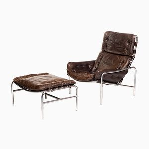 Nagoya SZ09 Lounge Chair & Ottoman by Martin Visser for 't Spectrum, 1969