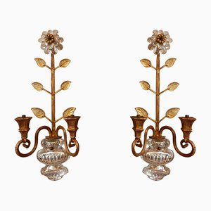 Mid-Century Wall Sconces from Maison Bagues, Set of 2