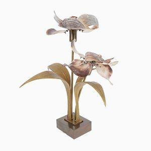 Mid-Century Bronze, Brass and Capiz Shell Lamp by Willy Daro, 1960s