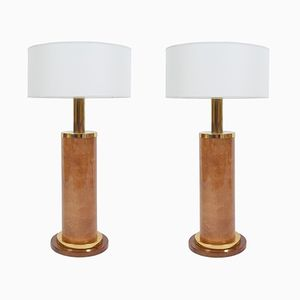 Mid-Century Large Table Lamps by Aldo Tura, 1960s, Set of 2
