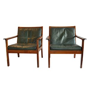 Mid-Century Rosewood Easy Chairs by Frederik Kayser for Vatne Møbler, 1965, Set of 2