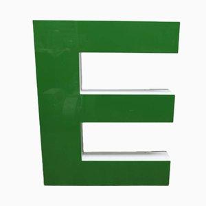 Großer Grüner Vintage Buchstabe E