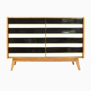 Mid-Century Black and White Chest of Drawers by Jiri Jiroutek for Interier Praha